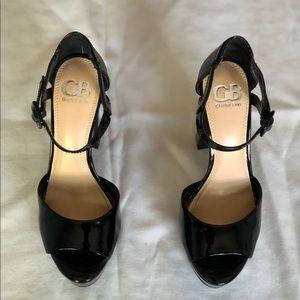 Gianni Bini Black Patent Platform Heels